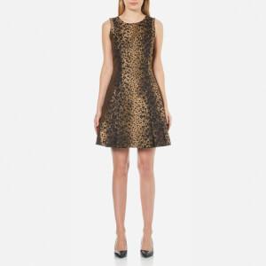MICHAEL MICHAEL KORS Women's Stitch Detail Pleat Dress - Caramel