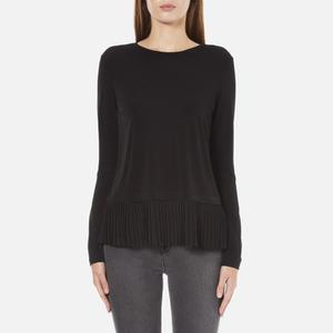 MICHAEL MICHAEL KORS Women's Solid Woven Pleat Top - Black
