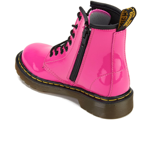 Dr. Martens Kids' 1460 J Patent Lamper Lace Up Boots - Hot Pink: Image 4