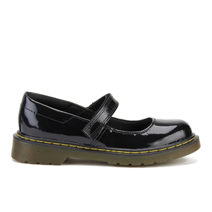 Dr. Martens Kids' Maccy Patent Lamper Mary Jane Shoes - Black
