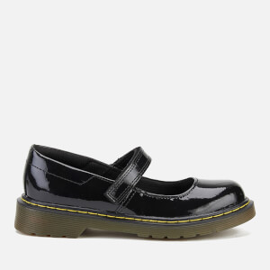 Dr. Martens Kids' Goldie J Patent Leather T Bar Shoes - Black