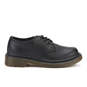 Dr. Martens Kids' Everley Leather 3-Eye Shoes - Black