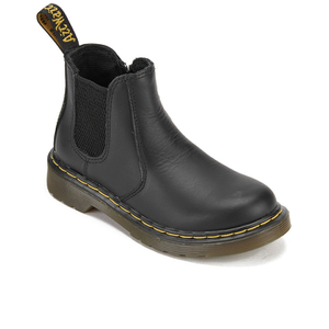 Dr. Martens Kids' 2976 J Softy T Leather Chelsea Boots - Black: Image 2