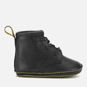 Dr. Martens Babies Auburn Kid Lamper Leather Boots - Black: Image 1