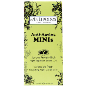 Antipodes Anti-Ageing Minis Serum/Cream (Joyous Serum 10ml, Night Cream 15ml)