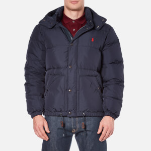 Polo Ralph Lauren Men's Down Filled Hooded Jacket - Worth Navy