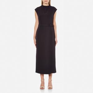 Gestuz Women's Anine Long Smart Dress with Belt Detail - Navy Blazer