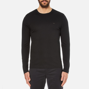 Michael Kors Men's Long Sleeve Sleek MK Crew Top - Black