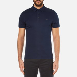 Michael Kors Men's Liquid Cotton Short Sleeve Polo Shirt - Midnight