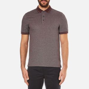 Michael Kors Men's Tipped Birdseye Polo Shirt - Burgundy