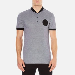 Versace Collection Men's Bomber Collar Polo Shirt - Grigio