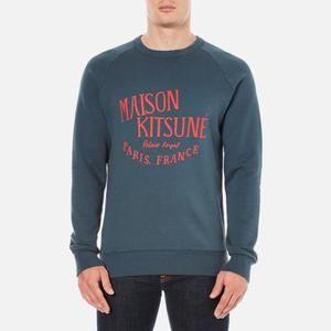Maison Kitsuné Men's Palais Royal Sweatshirt - Blue Strom