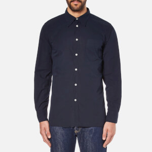 Universal Works Men's Point Collar Shirt - Navy
