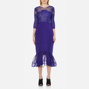 Three Floor Women's Seductive Blue Dress - Ink Blue/Nude