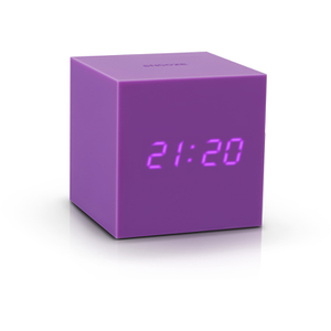 Gingko Gravity Cube Click Clock - Purple