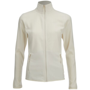 The North Face Women's 100 Glacier Full Zip Fleece - Vintage White