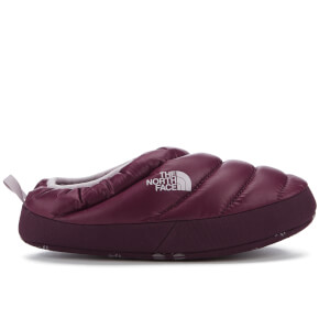The North Face Women's NSE Tent Mule Faux Fur II Slippers - Shiny Deep Garnet Red