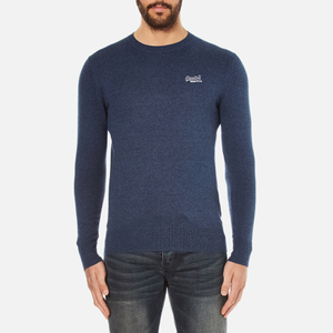 Superdry Men's Orange Label Crew Jumper - Dull Navy