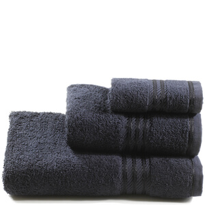 Restmor 100% Egyptian Cotton 3 Piece Towel Bale - Black