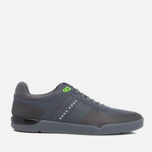 BOSS Green Men's Feather Tenn Trainers - Dark Grey