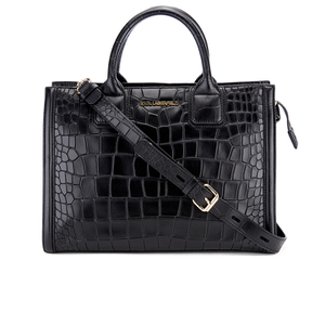 Karl Lagerfeld Women's K/Klassik Croco Tote Bag - Black