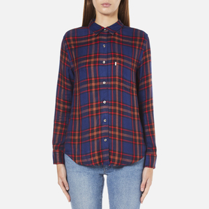 Levi's Women's Sidney 1 Pocket Boyfriend Shirt - Paprika Original