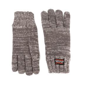 Superdry Men's Super Cable Gloves - Grey Granite Twist