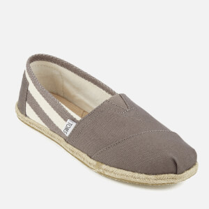 TOMS Women's University Classics Slip-On Pumps - Dark Grey Stripe: Image 2