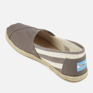 TOMS Women's University Classics Slip-On Pumps - Dark Grey Stripe: Image 4