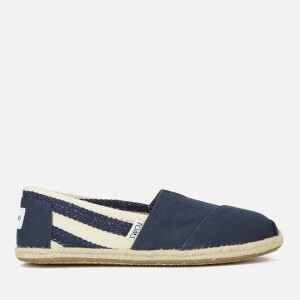 TOMS Women's University Classics Slip-On Pumps - Navy Stripe