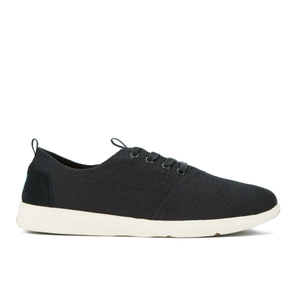 TOMS Men's Del Rey Linen Running Trainers - Black