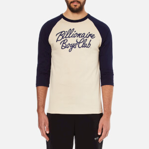 Billionaire Boys Club Men's Script Logo Raglan T-Shirt - Beige/Navy