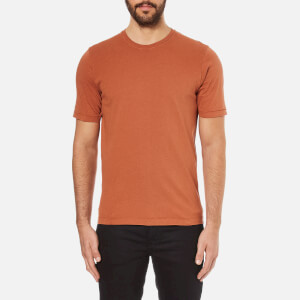 Folk Men's Crew Neck Short Sleeve T-Shirt - Rust