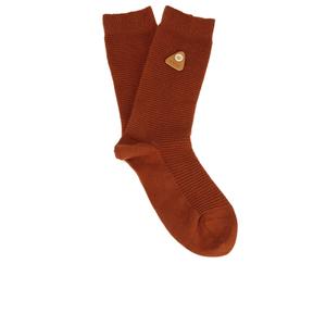 Folk Men's Rib Socks - Rust