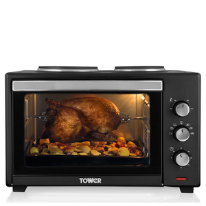 Tower T14014 42L Mini Oven with Hotplates and Rotisserie - Multi