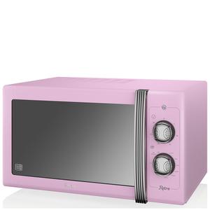 Swan SM22070PN 25L Retro Manual Microwave - Pink