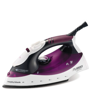 Morphy Richards 300102 2000W Turbosteam Iron - Plum/Black