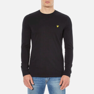 Lyle & Scott Men's Crew Neck Long Sleeve T-Shirt - Black