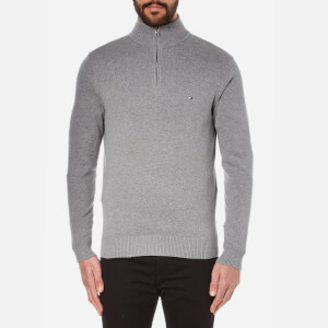 Tommy Hilfiger Men's Pima Cotton Cashmere Mock Neck Jumper - Silver Fog Heather