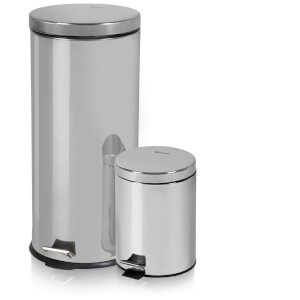 Swan Round Pedal Bins - Stainless Steel (30L/5L)