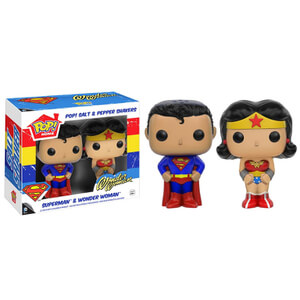 Salero y Pimentero Pop! Superman y Wonder Woman