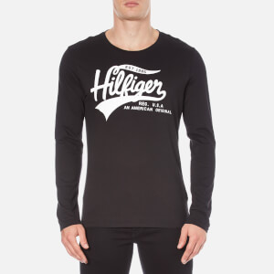 Tommy Hilfiger Men's Organic Cotton Long Sleeve Top - Black