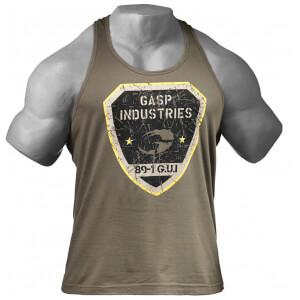 GASP Gym T-Back Vest - Wash Green