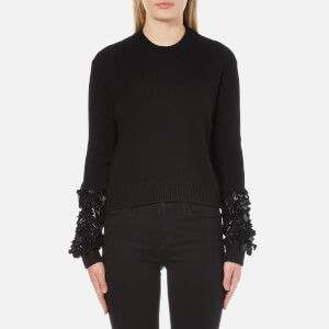 McQ Alexander McQueen Women's Cluster Sleeve Crew Neck Jumper - Darkest Black