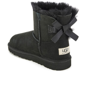 UGG Kids' Mini Bailey Bow Boots - Black: Image 4