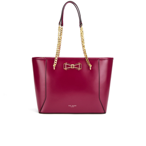Ted Baker Women's Jalie Geometric Bow Shopper Tote - Oxblood