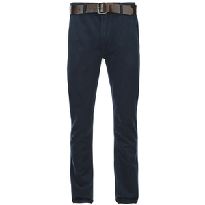 Smith & Jones Men's Ashlar Belted Slim Fit Chinos - Navy Twill
