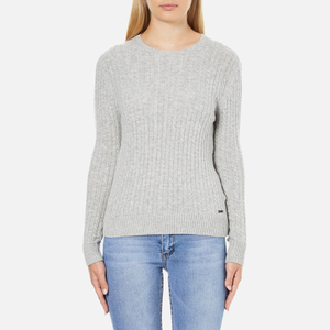 Superdry Women's Luxe Mini Cable Knit Jumper - Grey Marl