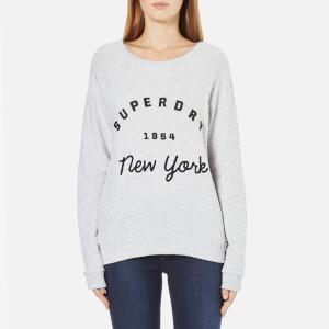 Superdry Women's Applique Raglan Crew Neck Sweatshirt - Ice Marl