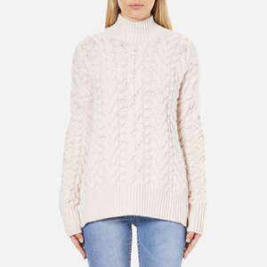 Superdry Women's Kiki Cable Knit Jumper - Cream
